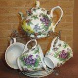 Чайный сервис на 6 персон фарфор (новый). Фото 1.