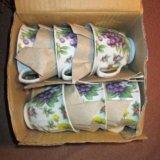Чайный сервис на 6 персон фарфор (новый). Фото 3.