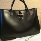 Кожаная сумка longchamp оригинал. Фото 1.