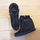 Сникерсы ботинки полусапожки женские. Фото 1.