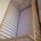Кроватка с матрасом. Фото 3.