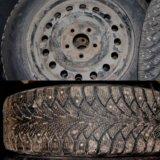 Зимние колеса 195/65 r15 (4 шт), et40 5x114,3. Фото 1. Коломна.