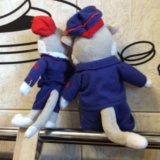 Мягкие игрушки(котик и кошечка)ржд. Фото 2.