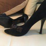 Элегантные, замшевые туфли-босоножки lucca italy. Фото 3.