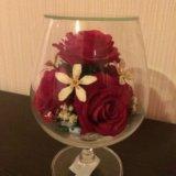 Натуральный цветок в стекле, не вянет 5 лет!. Фото 1. Волгоград.