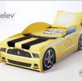 Кровать-машина мустанг (цвет желтый). Фото 3. Москва.