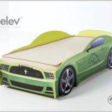 Кровать-машина мустанг (цвет зеленый). Фото 2.