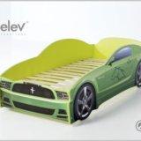 Кровать-машина мустанг (цвет зеленый). Фото 1.
