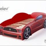 Кровать-машина мустанг (цвет красный). Фото 1. Москва.