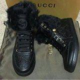 Ботинки gucci. Фото 1.