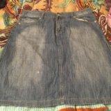 Юбка джинсовая р 54. Фото 1.