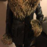 Зимняя кожаная куртка с мехом. Фото 1.