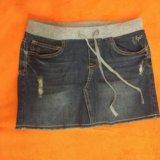 Юбка джинсовая 10-12 лет. Фото 1. Краснодар.