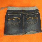 Юбка джинсовая 10-12 лет. Фото 2.