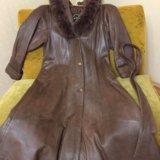 Натуральное пальто демисезонное. Фото 2. Волжский.
