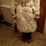 Пальто белое, на осень.. Фото 2.