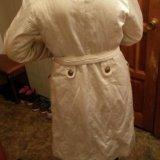 Пальто белое, на осень.. Фото 3.