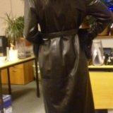 Пальто кожаное утеплённое. Фото 4.