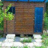 Летний душ-туалет. Фото 1.