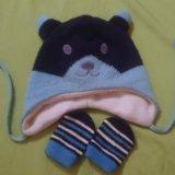 Шапочка+рукавички. Фото 1.
