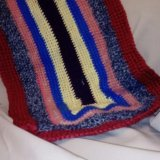 Вязанный коврик. Фото 1.