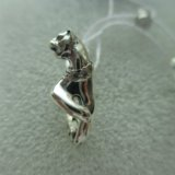 """Серьги """"пантера"""" из серебра 925 пробы с фианитами. Фото 3."""