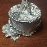Солонка.серебро,фарфор. Фото 1.