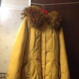 Курточка клевая ) пух натуральный ))) горчичный. Фото 1.