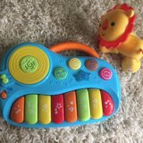 Пианино baby go и лев fisher price. Фото 1.