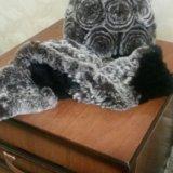 Шапка зимняя с шарфом. Фото 1.