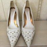 Туфли женские свадебные. Фото 1.