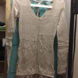 Платье intimissimi шерстяное с атласной юбкой. Фото 2.