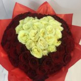 101 роза сердце. Фото 3.