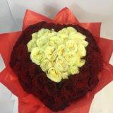 101 роза сердце. Фото 1.