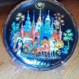 Тарелка сувенирная палех. Фото 1.