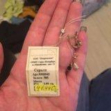 Серьги золотые с бриллиантами и сапфирами. Фото 1. Балашиха.