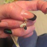 Серьги золотые с бриллиантами и сапфирами. Фото 2. Балашиха.