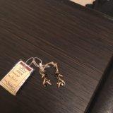 Серьги золотые с бриллиантами и сапфирами. Фото 4. Балашиха.
