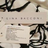Платье длинное белое черное оригинал gina bacconi. Фото 2.