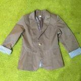 Пиджак бежевый почти новый. Фото 1.
