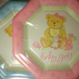 Набор детских бумажных тарелок 8 шт. Фото 1.