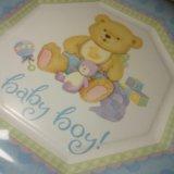 Набор детских бумажных тарелок 8 шт. Фото 2.