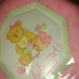 Набор детских бумажных тарелок 8 шт. Фото 3.