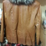 Куртка с мех чернобур. кожаная(натуральная)женская. Фото 2.