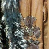 Куртка с мех чернобур. кожаная(натуральная)женская. Фото 3.
