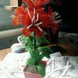 Цветы из бисера. Фото 1. Абинск.