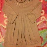 Платье розово-серое б/у. Фото 1.