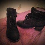 Кожаные осенние ботинки. Фото 1.