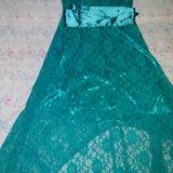 Гипюровое платье со шлейфом. Фото 1.