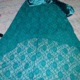 Гипюровое платье со шлейфом. Фото 2.